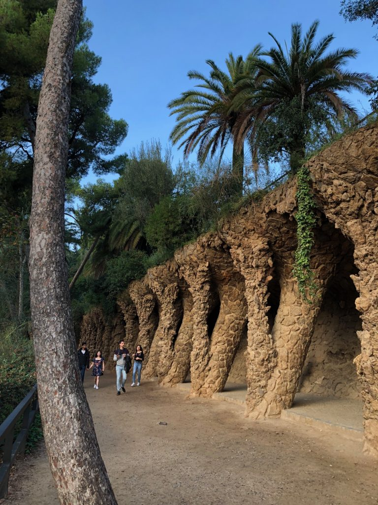 Rande v barceloně ve Španělsku